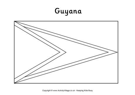 Guyana Flag Colouring Page Flag Coloring Pages Guyana Flag