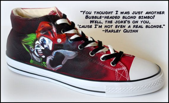 7d60da66807962 Custom Mens Shoes Painted Shoes Harley Quinn   Joker by PricklyPaw ...