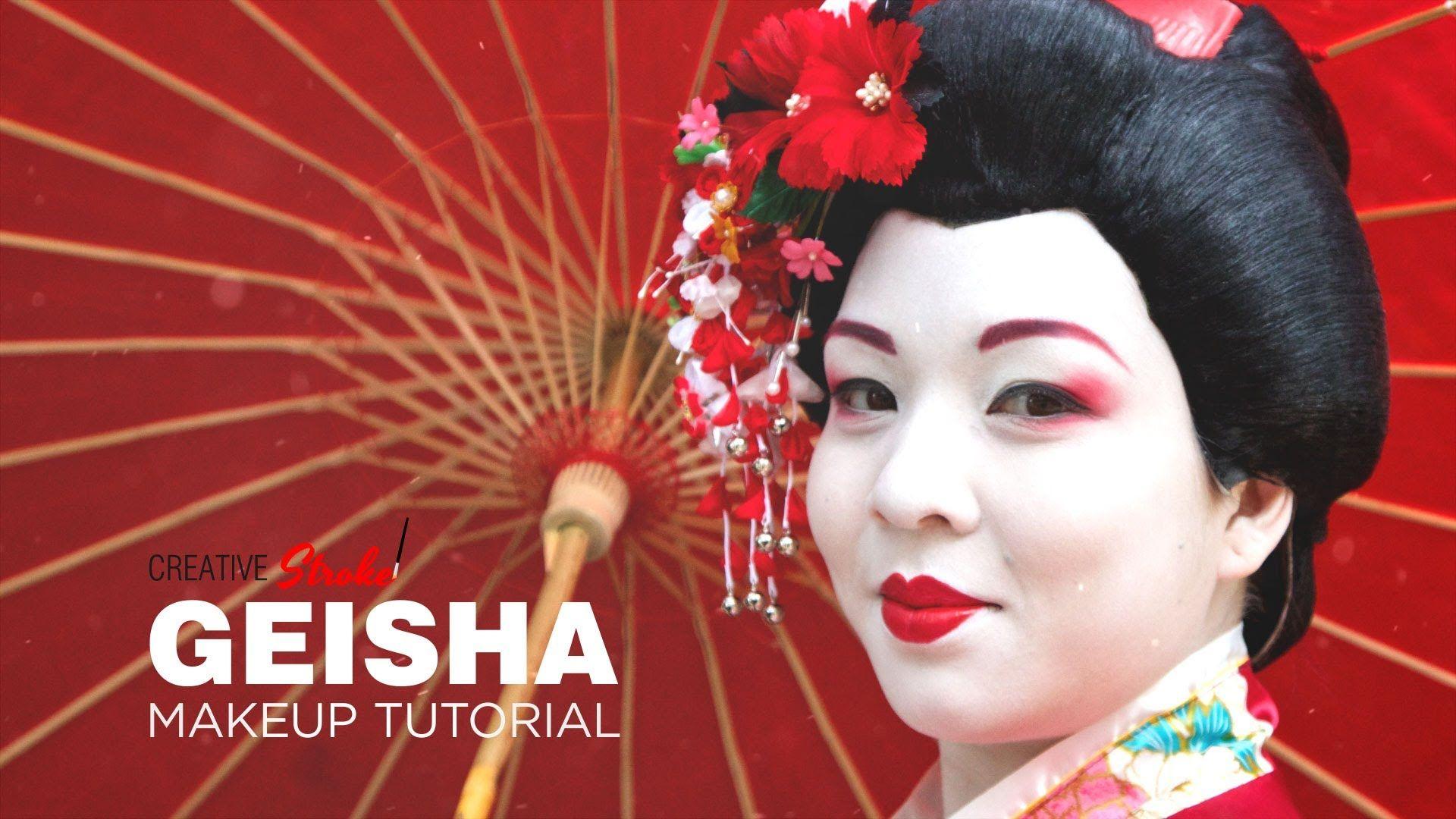 Geisha Makeup Tutorial for Halloween pics