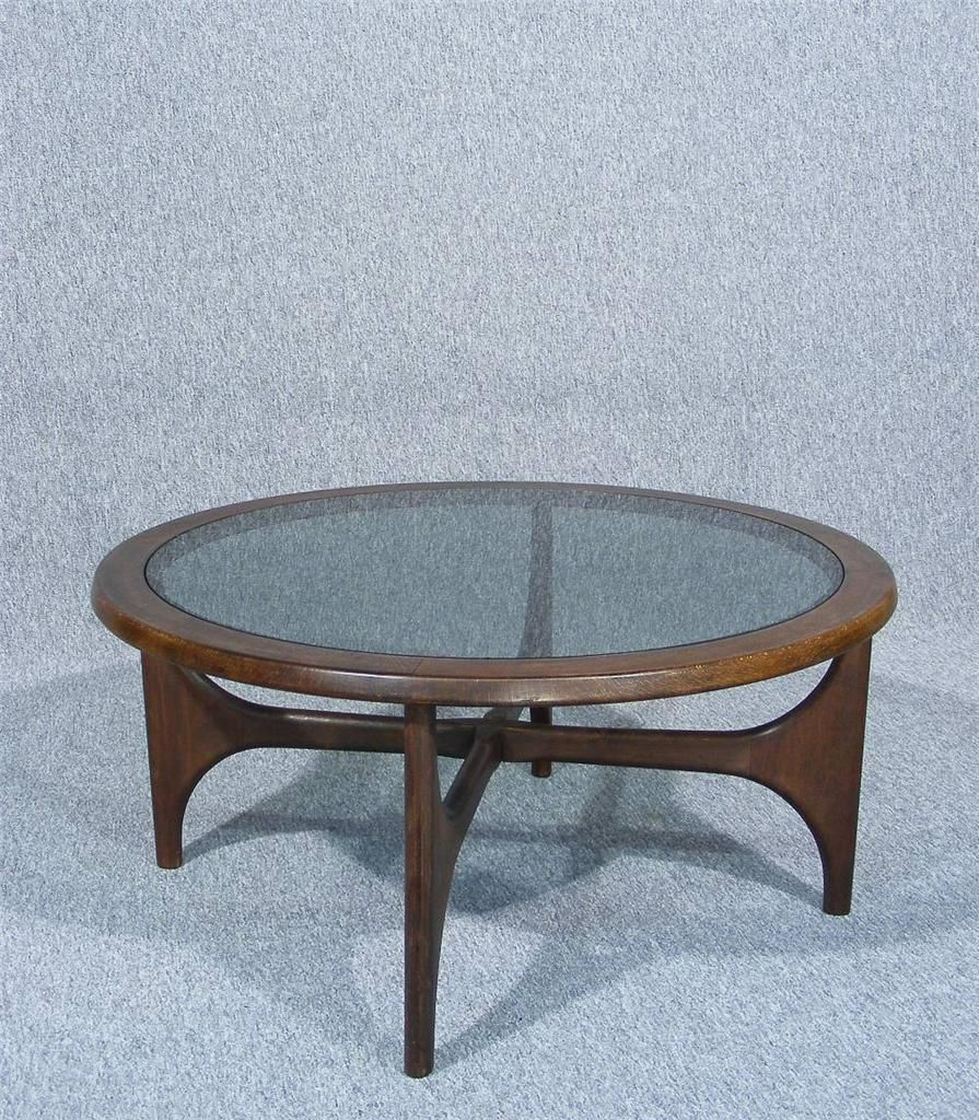 Retro light teak circular glass top coffee table nest of tables by - A Beautifully Made Vintage Retro Astro Style Design Coffee Table Circular Wooden Frame With Fabulous Colour And Grain Original Glass Inset Top Stylish