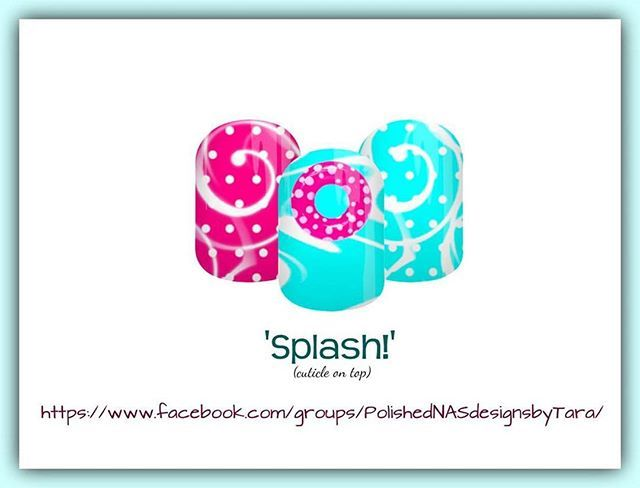 """Make a """"Splash!"""" this summer in my newest NAS design! Join my FB group to see all my designs & ordering info. #jamberry #summerfun #design #mani #pedi #nailspiration #notd #ootd #pastel #treatyourself #nailwraps #jamberryaddict #jamberrynas #color"""