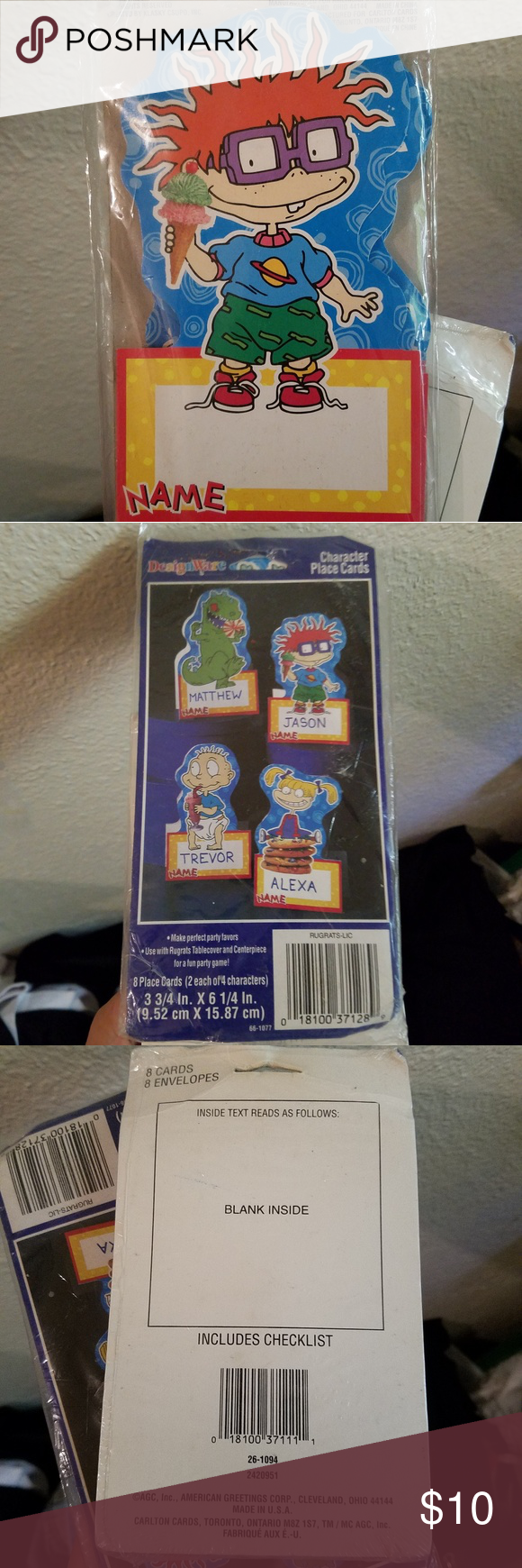 Rugrats Party Goods Stationary Cards Name Tag Stationary Cards Rugrats Best Part Of Me