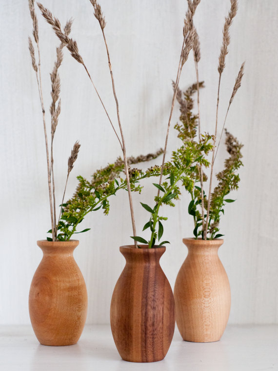 Weed Pot, Wood Bud Vase, Stick Pot, Wooden Vase, Mini Vase,