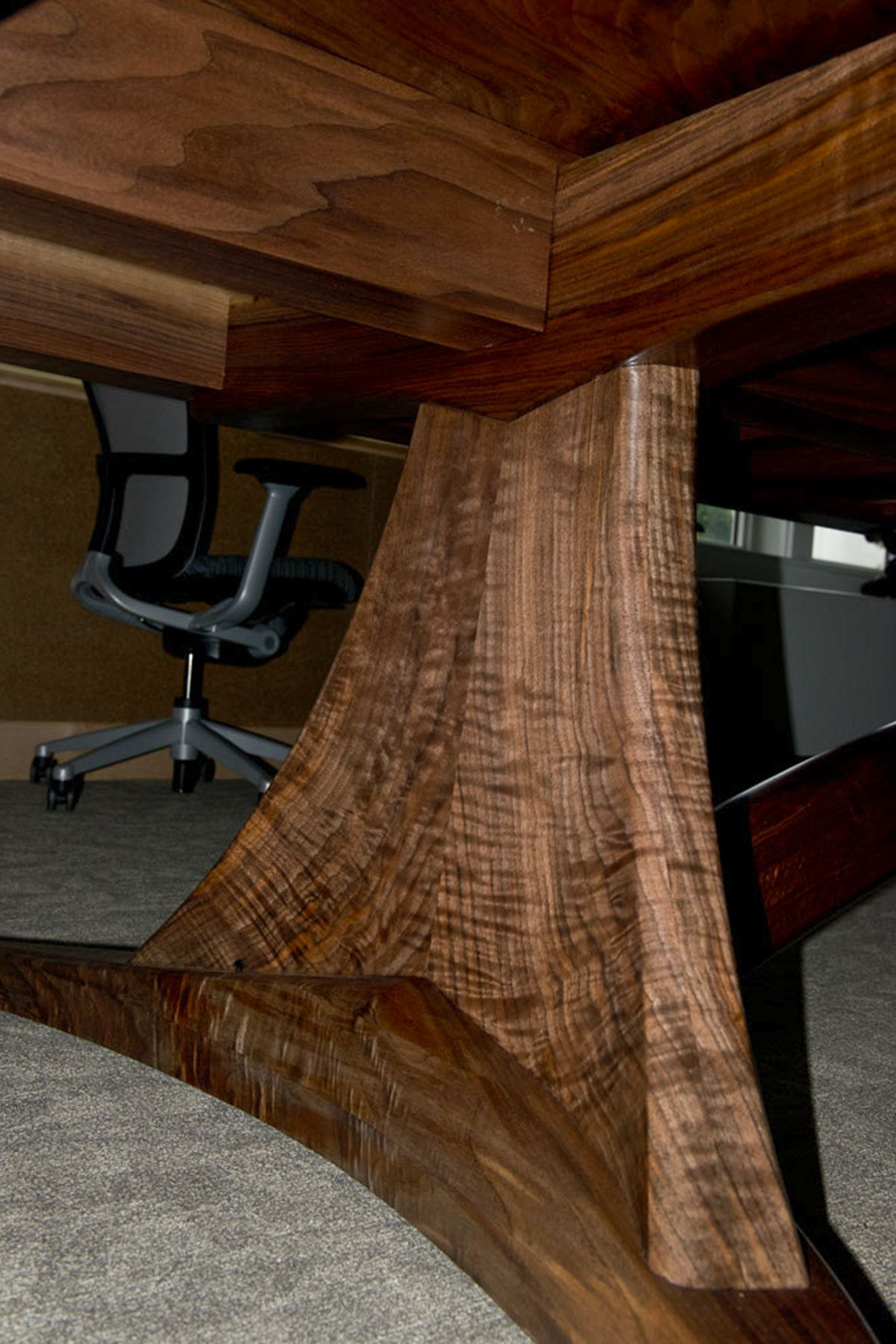 Curly Black Walnut Table Legs Table Design By Brian Hearne