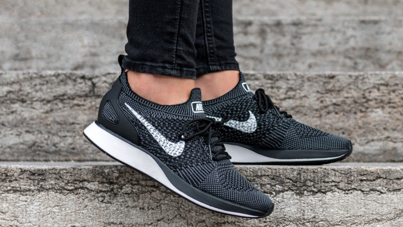crazy price skate shoes available Nike Air Zoom Mariah Flyknit Racer Black White in 2020 | Flyknit ...