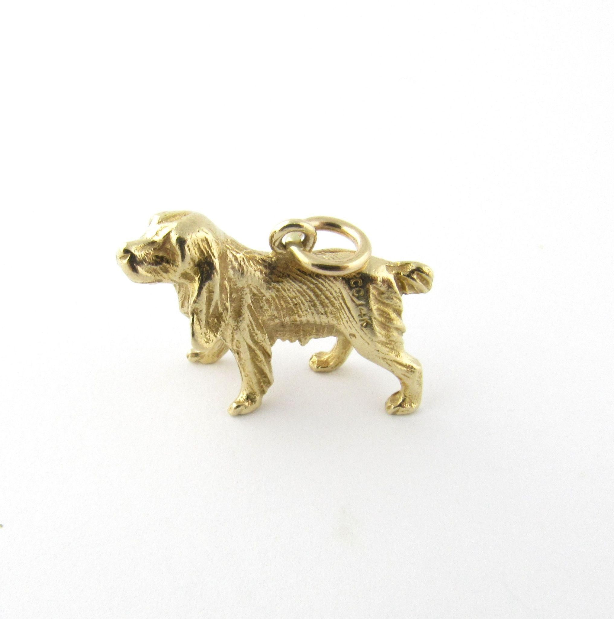 Vintage 14 Karat Yellow Gold Golden Retriever Charm Vintage