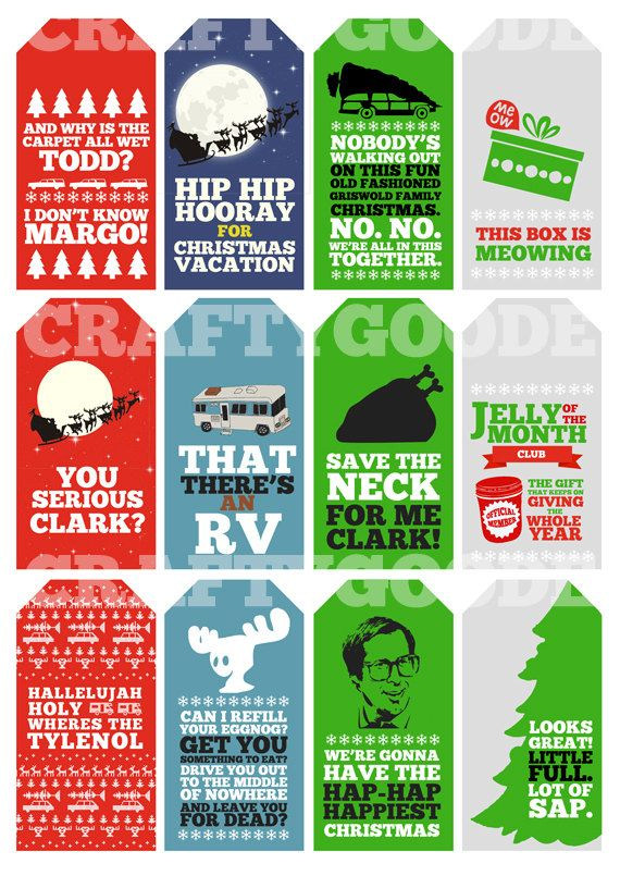 #favorTags Christmas Vacation Quote Gift Tags