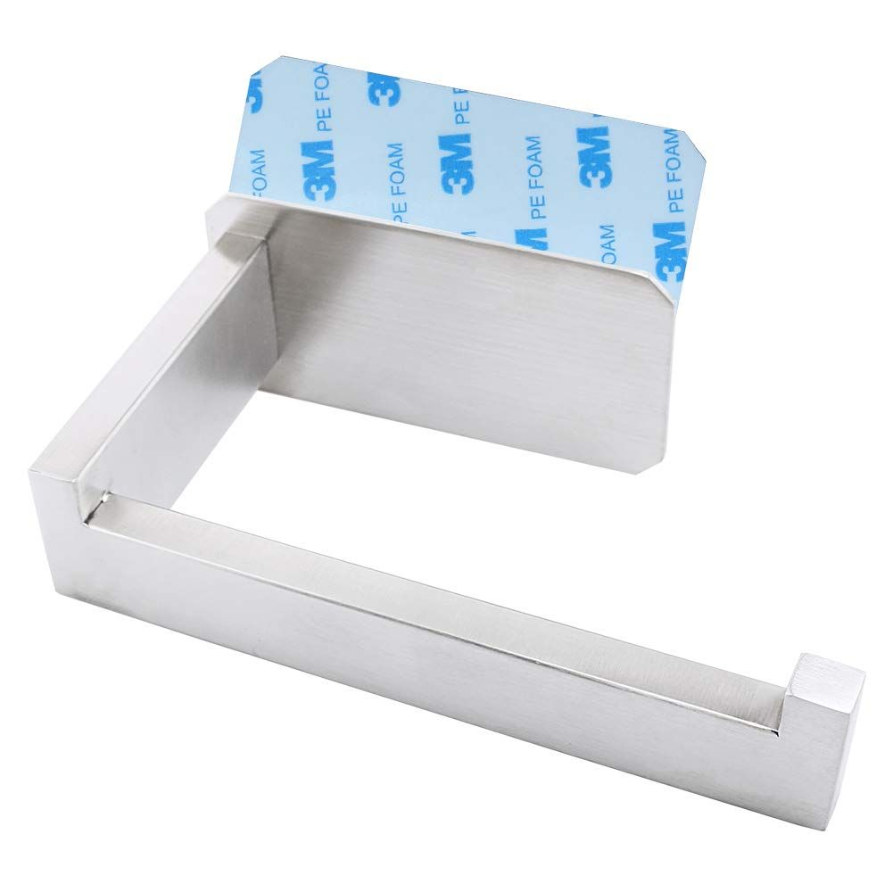 Wilifdom Toilet Paper Holder Adhesive Self Adhesive Toilet Tissue Holder For Toilet Roll Bathroom Stick On Wal In 2020 Toilet Paper Holder Tissue Holders Toilet Roll