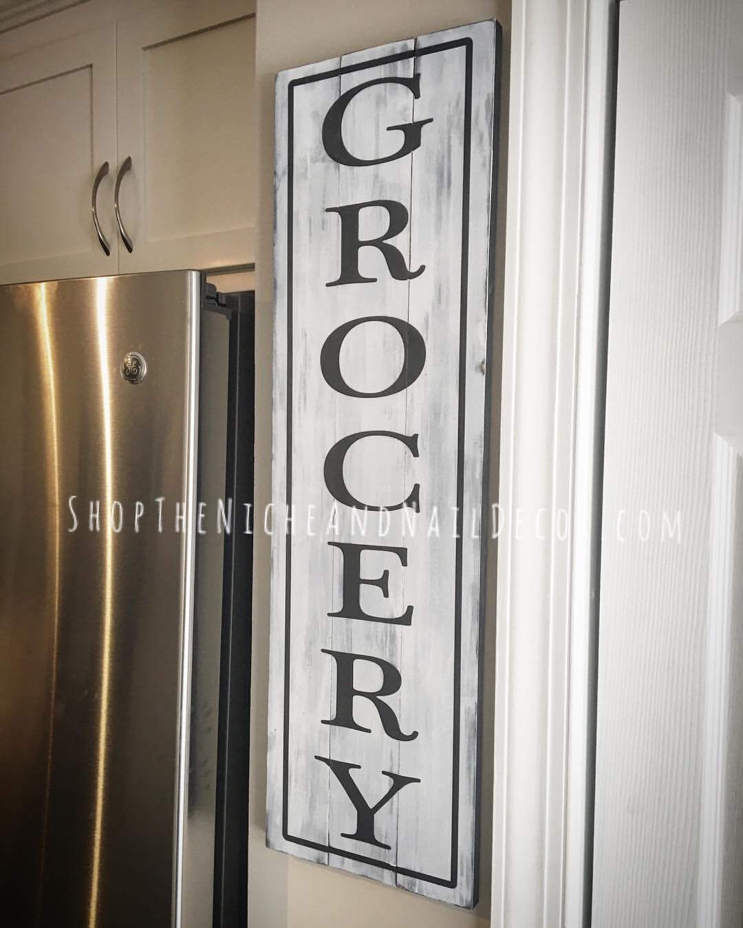 Grocery Kitchen Sign, Grocery Sign, Farmhouse Decor, Rustic Home ...