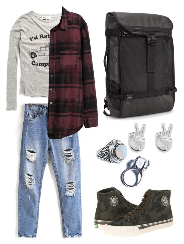 """""""#three"""" by hayescomet on Polyvore featuring H&M, PF Flyers, Kill Star and Rock 'N Rose"""