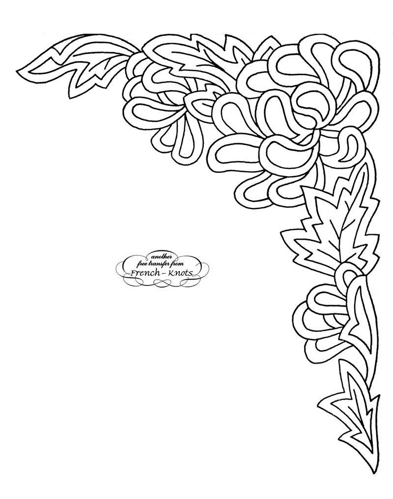Corner - Embroidery Parchment Pattern | bordados y muestras ...
