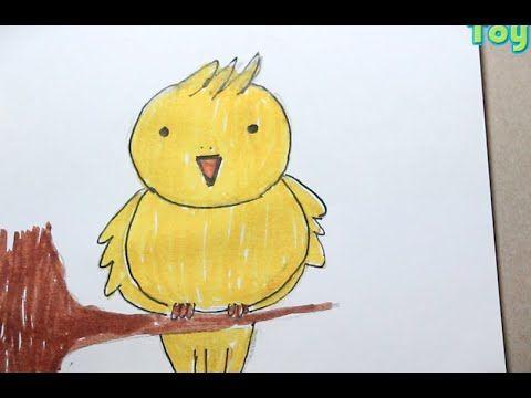Dibujando Simpatico Pajarito Amarillo Para Ninos De Preescolar Y Primaria Ninos De Preescolar Ninos Videos De Dibujos