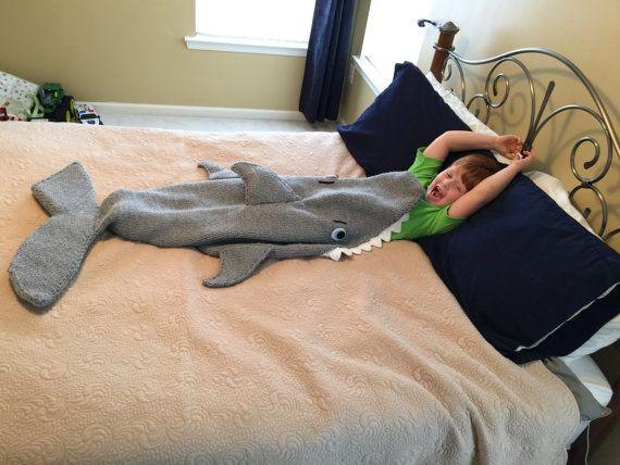Shark Attack Lap Blanket Knitting Pattern Pdf 420 Instant