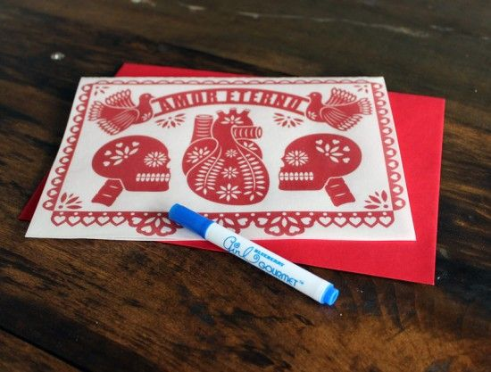 Edible Valentines day card by Emily Evans pen   ILUSTRES   Pinterest