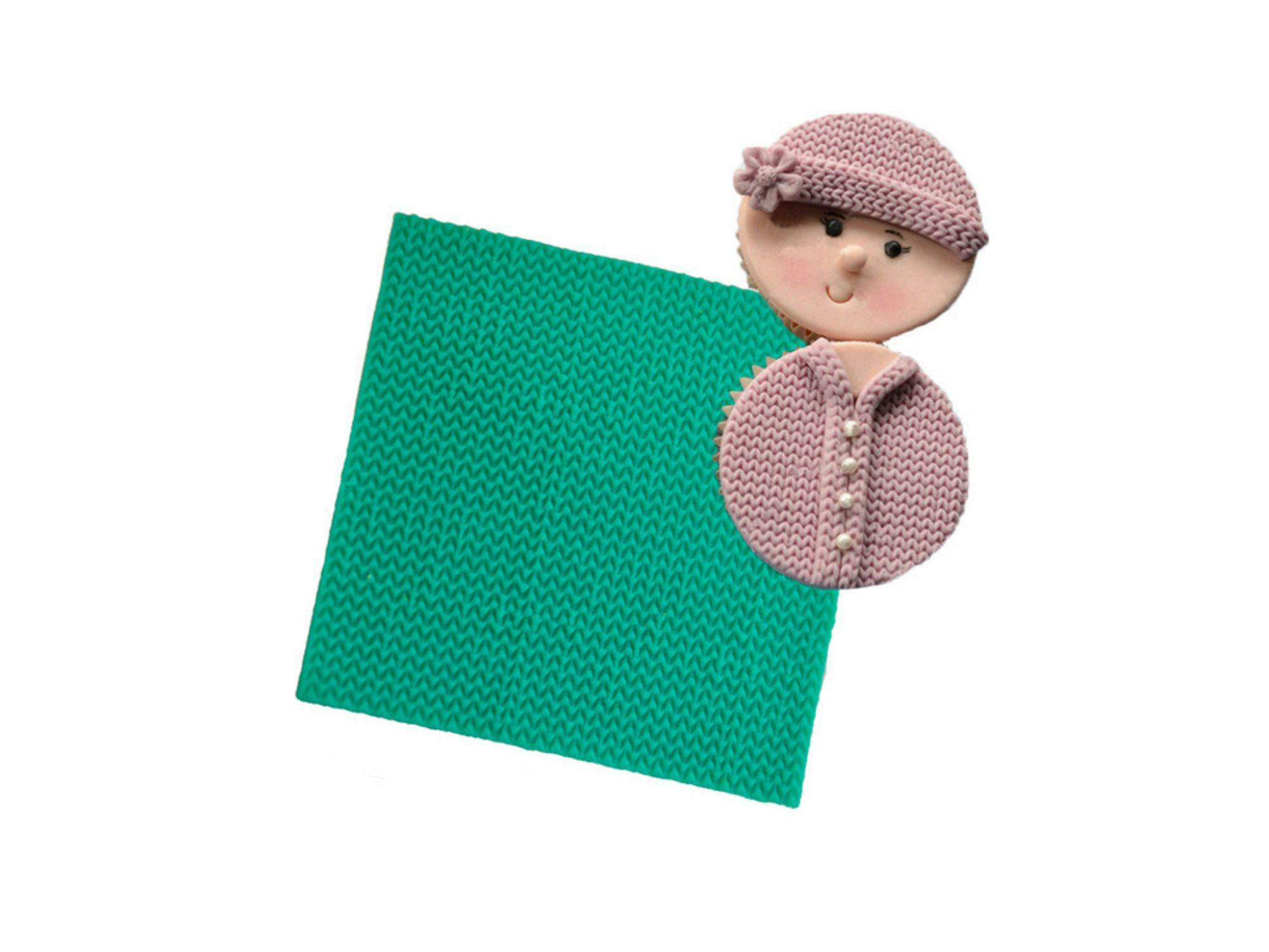 Sweater Knit Pattern Embosser Silicone Mat #sweaterknitsiliconemat #siliconemold #bakingsupplies #knitsiliconemat http://www.itacakes.com/product/sweater-knit-pattern-embosser-silicone-mat/