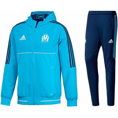 2017 2018 Marseille Adidas Presentation Veste (bleu marine