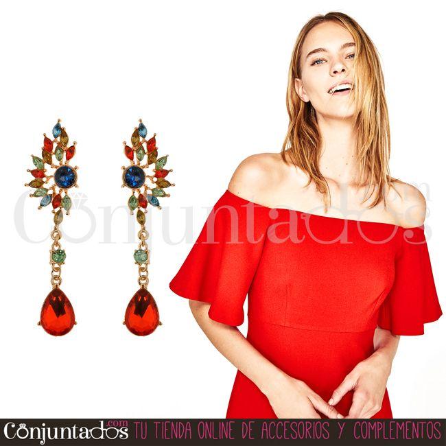 Pendientes Sybilla ★ 13'95 € en https://www.conjuntados.com/es/pendientes/pendientes-largos/pendientes-sybilla-dorados-con-piedras-rojas.html ★ #novedades #pendientes #earrings #conjuntados #conjuntada #joyitas #lowcost #jewelry #bisutería #bijoux #accesorios #complementos #moda #eventos #bodas #invitadaperfecta #perfectguest #party #fashion #fashionadicct #picoftheday #outfit #estilo #style #GustosParaTodas #ParaTodosLosGustos