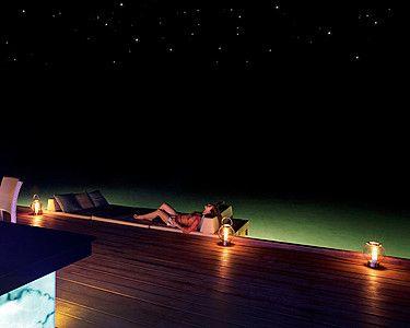 Four Seasons Resort Maldives at Landaa Giraavaru. Overwater lounging under the stars. One day...