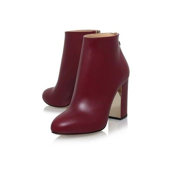 Charlotte Olympia Alba Ankle Boots (1 570 BGN) ❤ liked on Polyvore featuring shoes, boots, ankle booties, bootie boots, zipper boots, block heel boots, zipper booties and zip boots