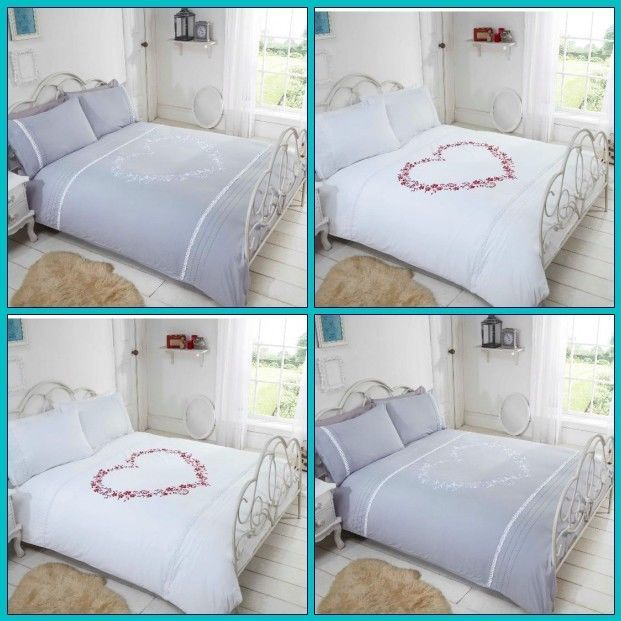 Heart Design Duvet Cover Bedding Set, What Size Is A Double Bed Cover In Cm