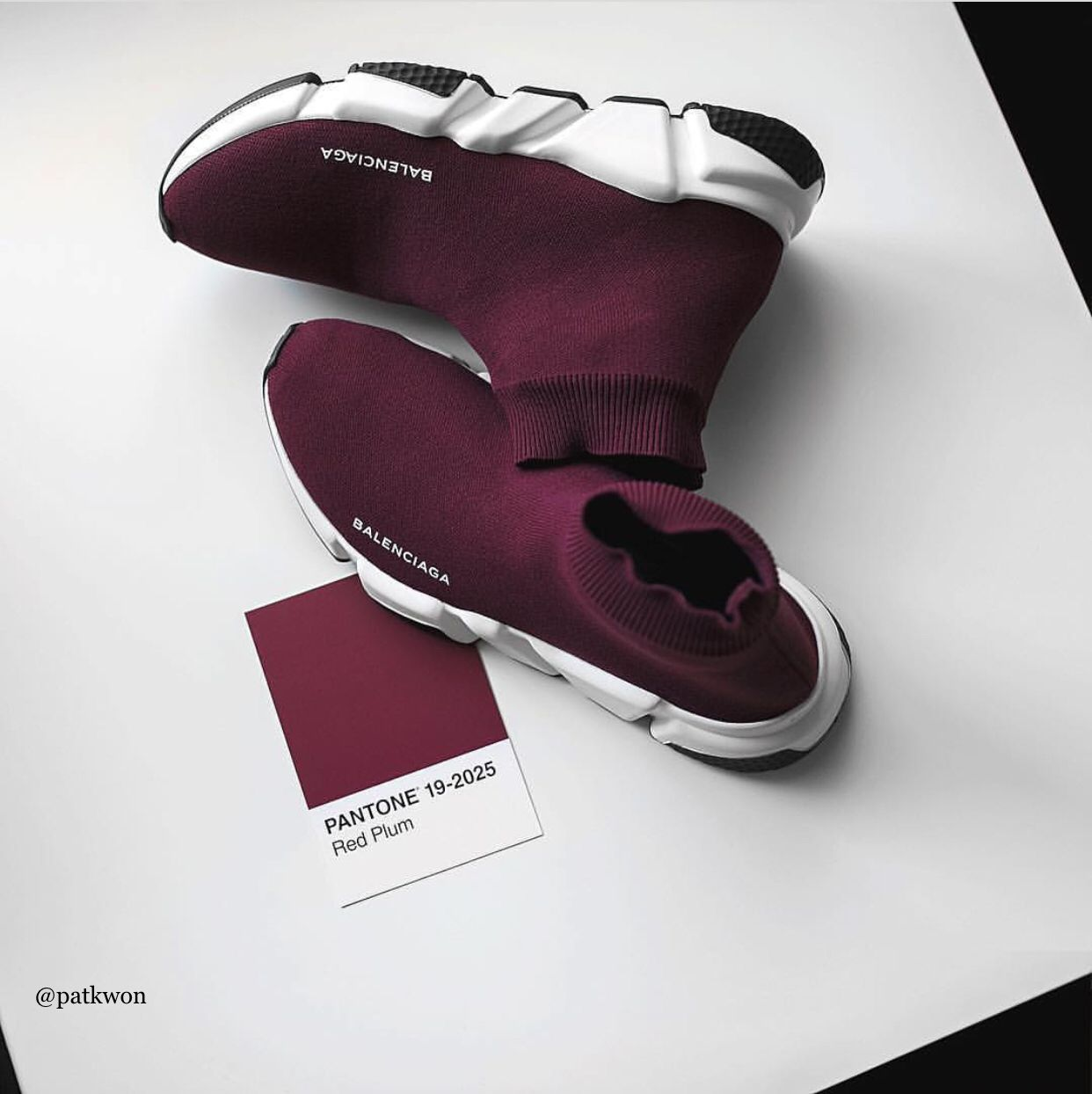561695b3f690 Balenciaga Speed Trainer PANTONE 19-2025 Red Plum