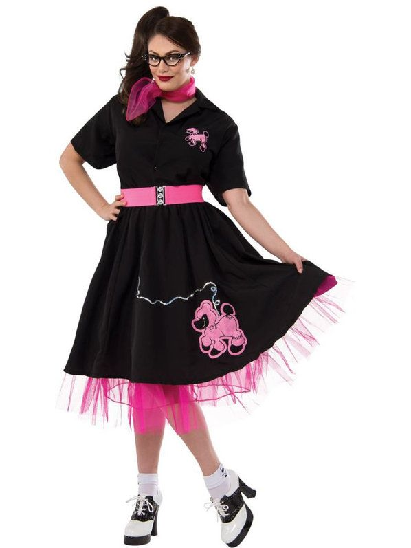 d00069ff35cf Check out Black   Pink 50 s Poodle Costume - 50 s Accessories   Makeup from  Costume Super Center