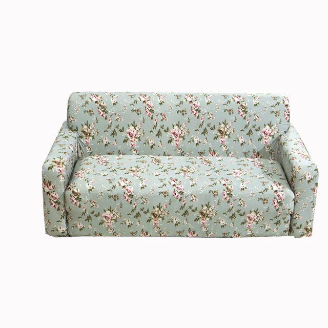 1 4 Seater L Shaped Elastic Sofa Cover Spandex Corner Shaped Sofa Cover Universal Elastic Sofa Slipcover Flowers Printed Soft Sofa Cover Sofa Covers Sofa
