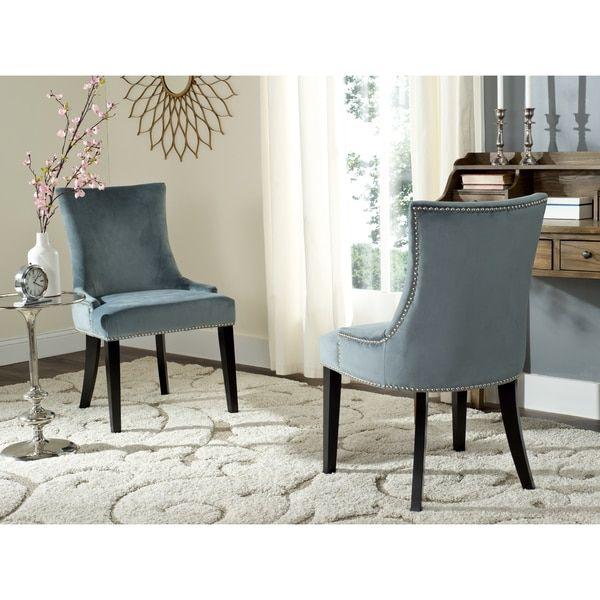 Safavieh En Vogue Dining Lester Blue Side Chairs Set Of 2 Blue Dining Chair Dining Chairs Dining Room Chairs