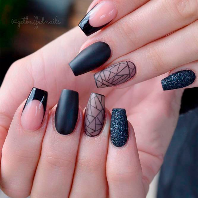 21 Cool Designs for Coffin Tip Nails Shape