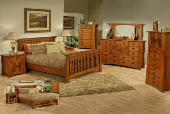 Bungalow Mission Pasadena Oak Bed Oak Bedroom Furniture Sets Bedroom Sets Bedroom Design