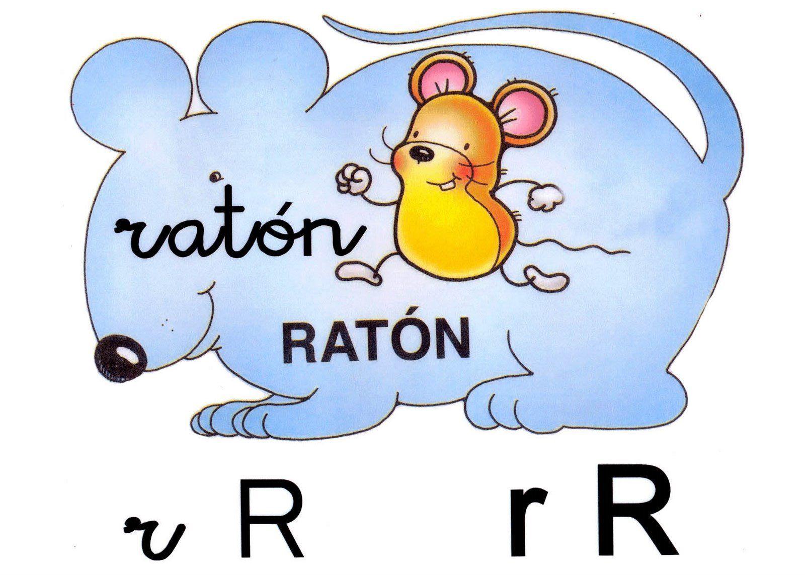 Letra r minúscula, R mayúscula. Ratón. | Letras del abecedario ...