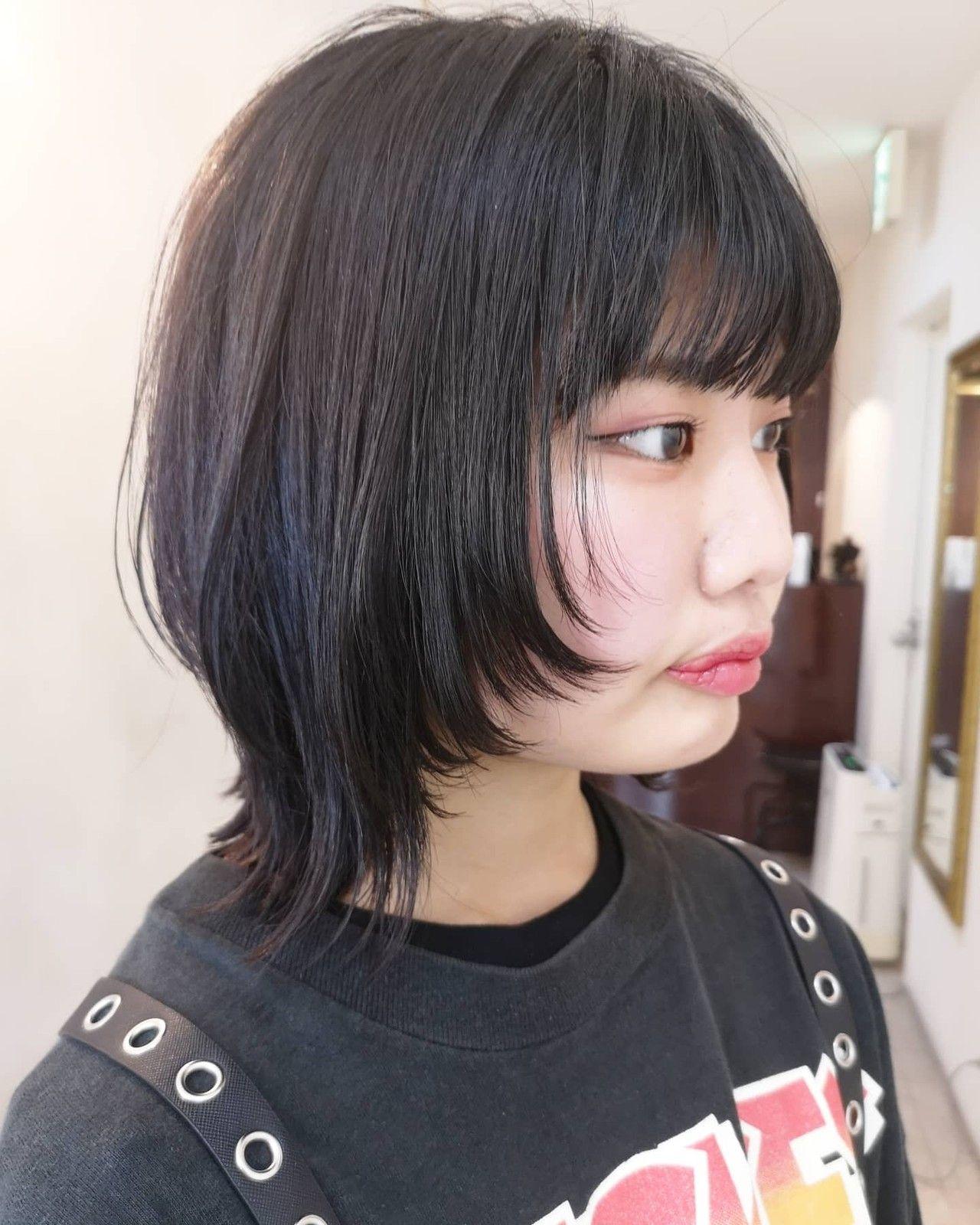 ミディアム ウルフレイヤー ウルフ ウルフカット Hair S Lunetta 心斎橋 Yusuke Matsumoto 544265 Hair 個性的 ヘアスタイル レイヤーカットヘア ヘアスタイリング