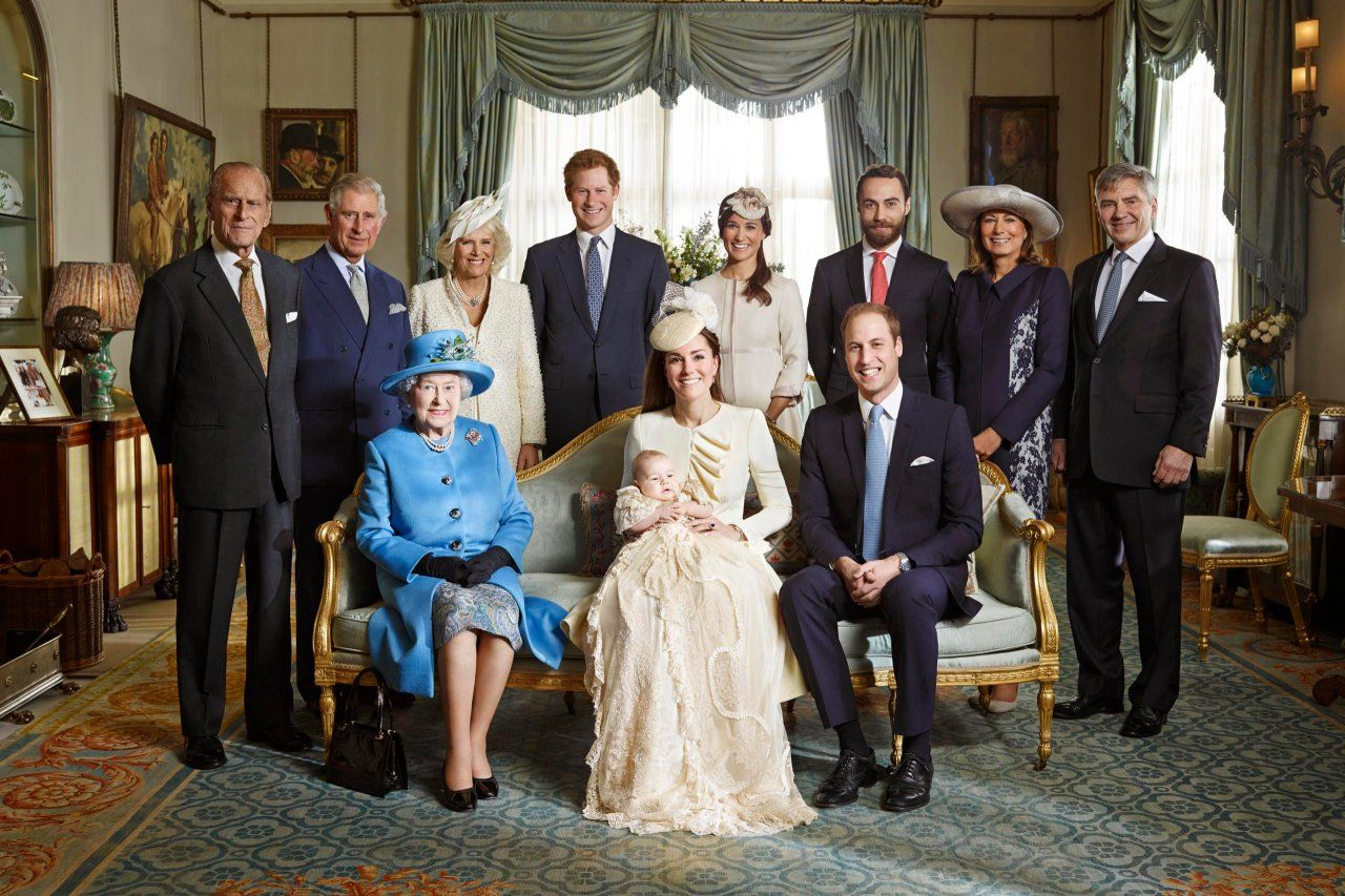 Prince George's official christening photo.