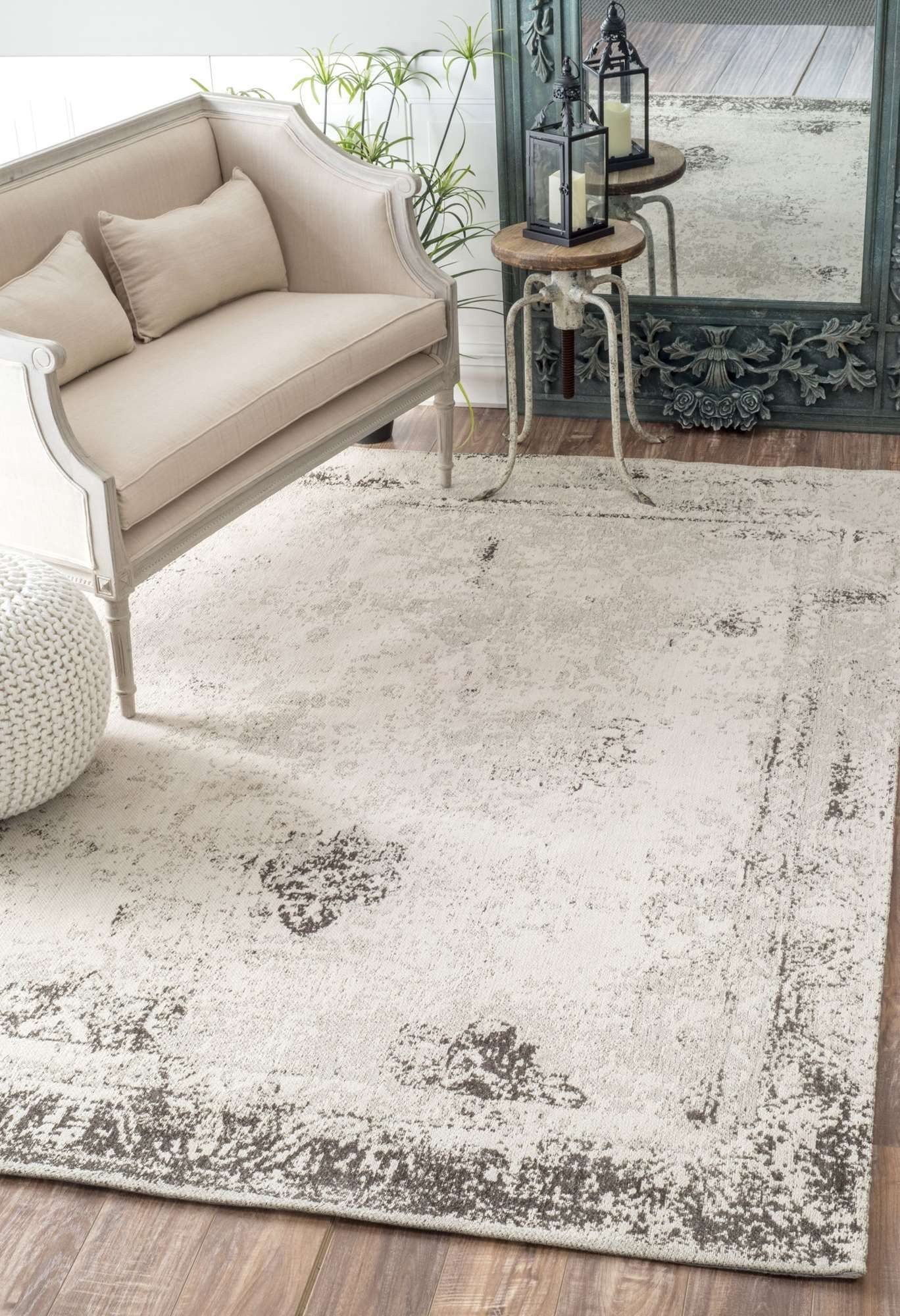 Maester Faded Abstract Gray Rug Area Rugs Distressed Rugs Grey Rugs