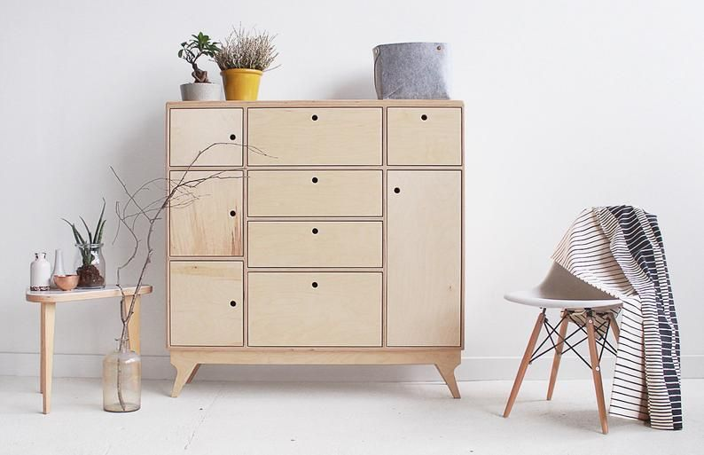Bliss 2 Handmade Plywood Chest Of Drawers In 2020 Furniture Scandinavian Chest Of Drawers Modern Room