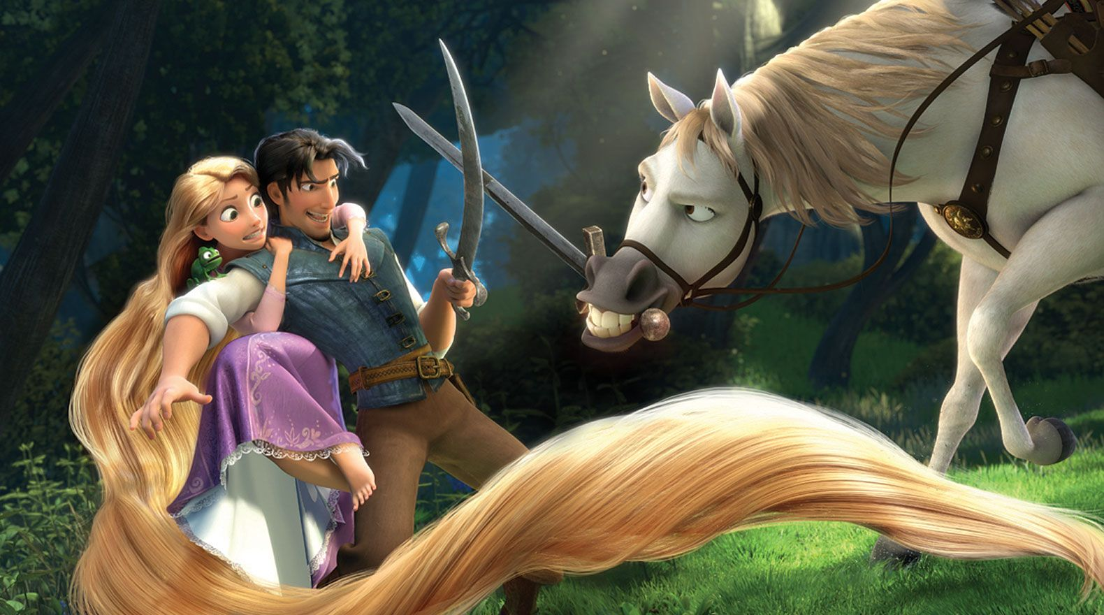 19 Reasons Rapunzel And Flynn Rider Are The Best Disney Couple Disney Horses Tangled Movie Disney Couples