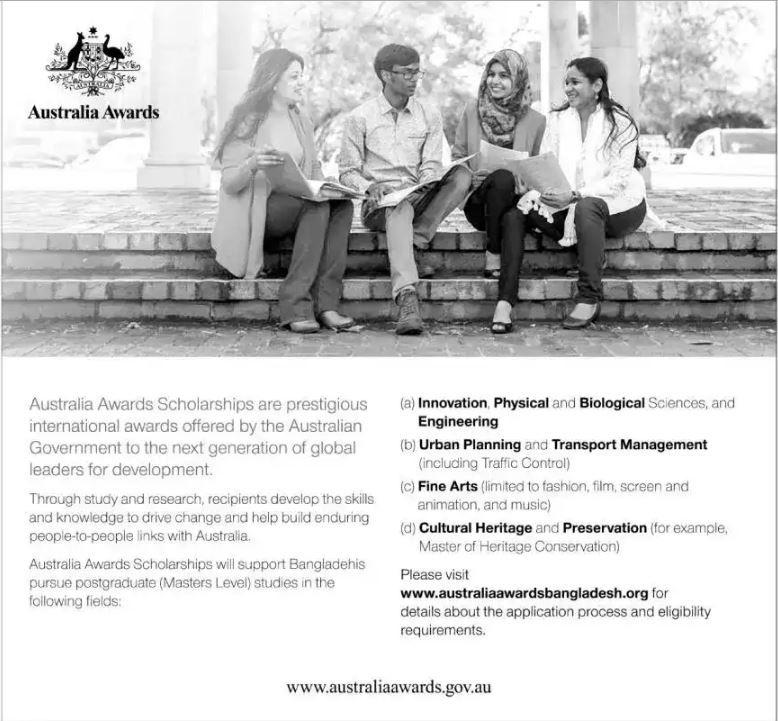 Australia Awards Scholarships in BD June 2017 Government