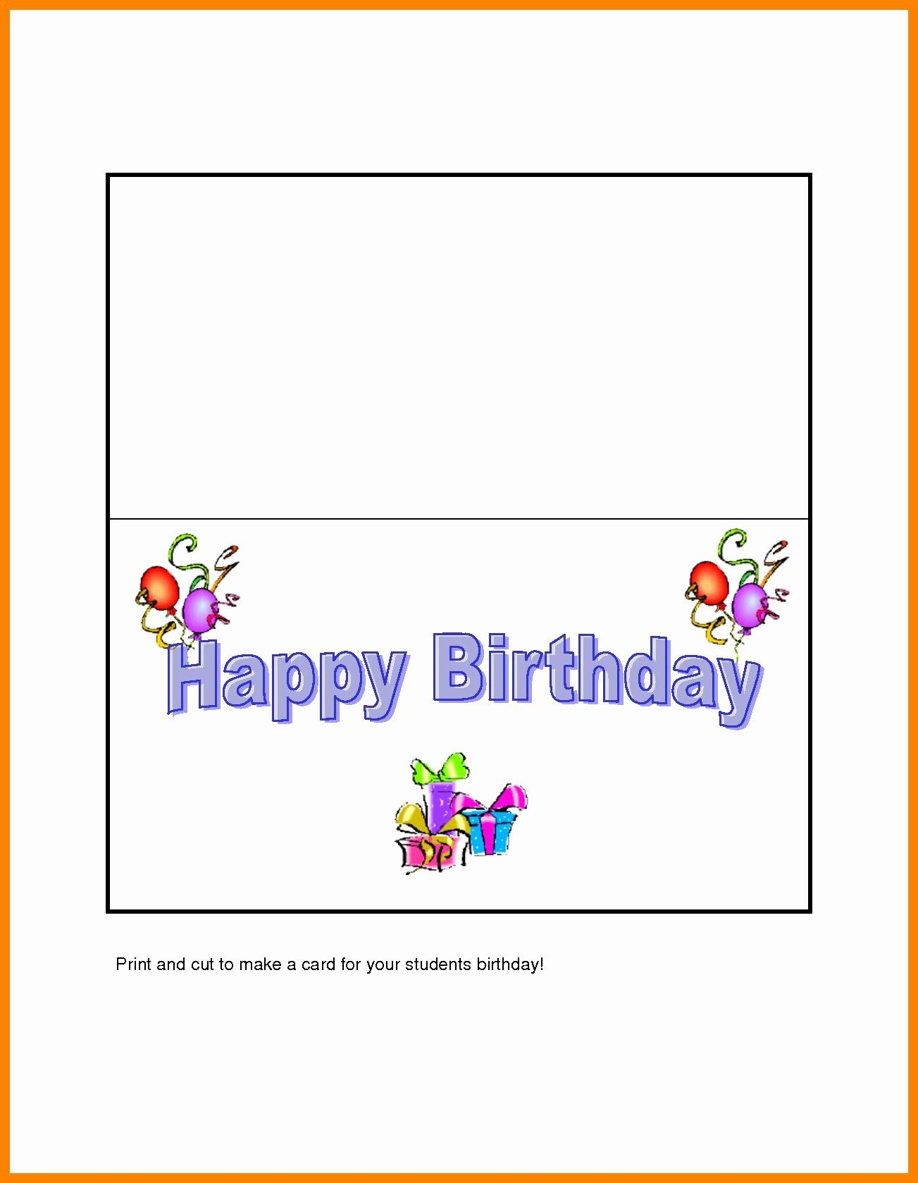 Quarter Fold Card Template Word Unique Quarter Fold Greeting Card Template Babykort