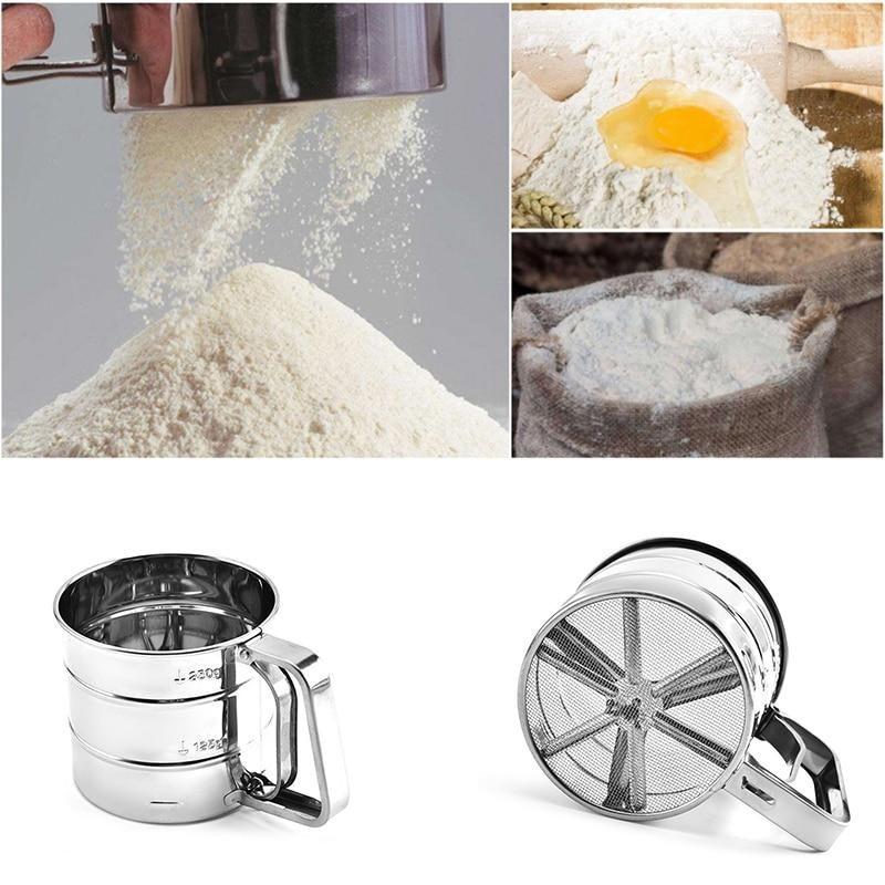 Stainless Steel Flour Sieve/Powder Cup Mesh Kitchen Gadget