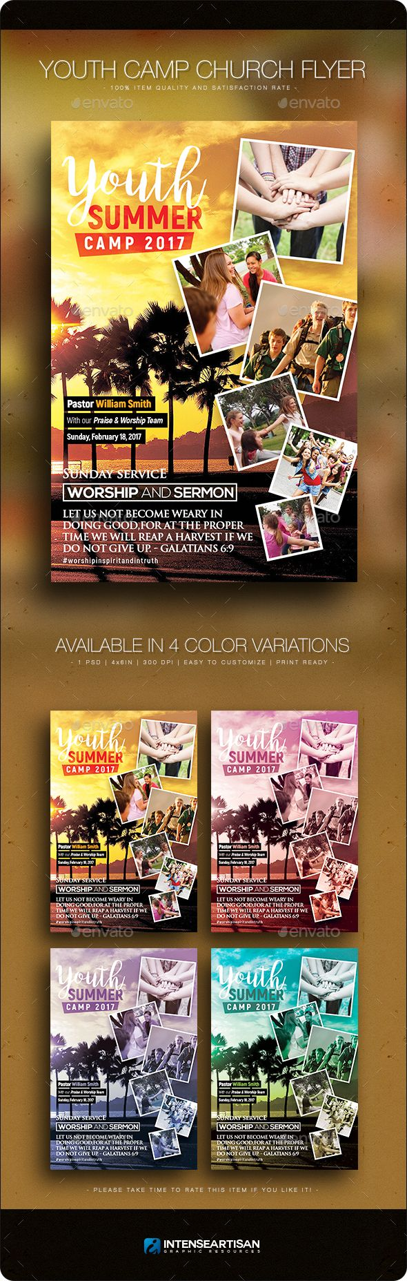 Youth Camp  Church Flyer Template  Youth Camp Flyer Template