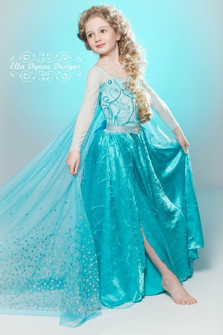 Little girl Frozen Elsa Halloween costume that are popular in 2015 - cape chiffon silk  sc 1 st  Pinterest & Little girl Frozen Elsa Halloween costume that are popular in 2015 ...