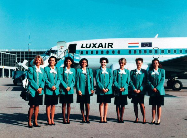 Vintage Luxair crew Plane Girls with charm Pinterest Flight - british airways flight attendant sample resume