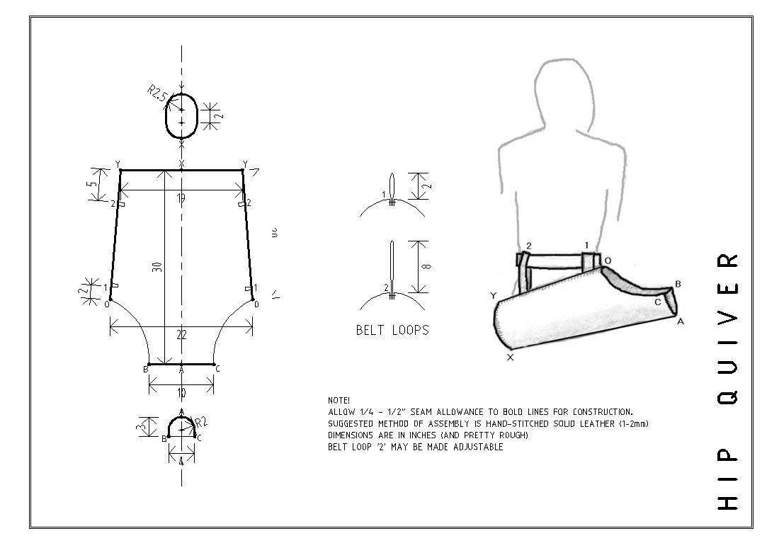 Patrón de cuero de tiro con arco Pack-Pack