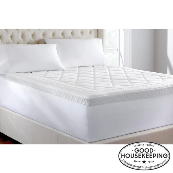 Home Decorators Collection 3 In Quilted Gel Memory Foam Queen Mattress Topper 65608 The Home Depot In 2020 Queen Memory Foam Mattress Queen Mattress Topper Mattress