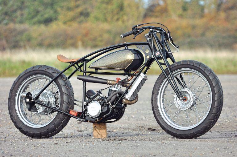 Valespeed Motorcycles 28 Days Later Custom Gasgas Bobber Motorcycle Cool Motorcycles Vintage Motorcycles