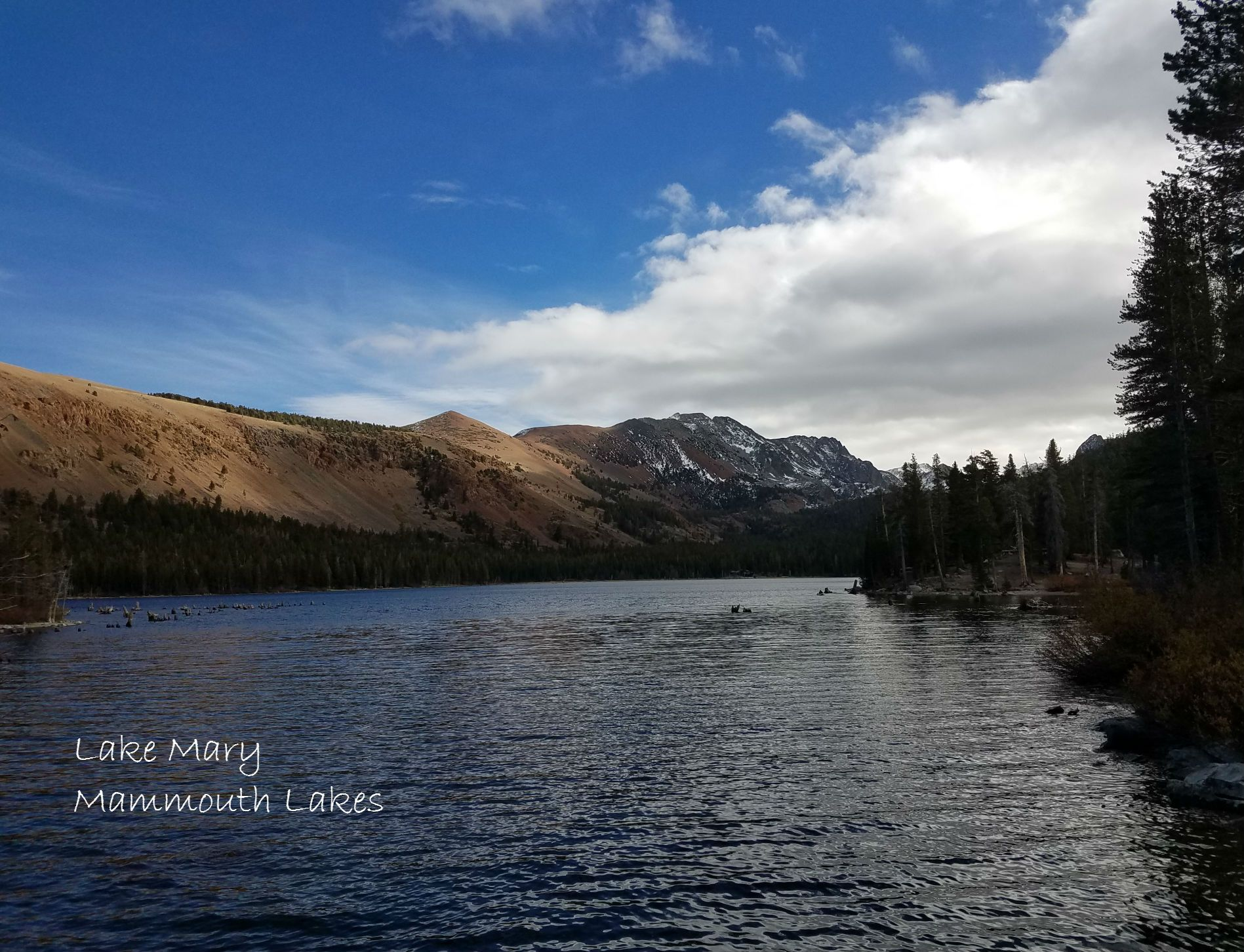 Lake mary and the mammoth lakes region mammoth lakes