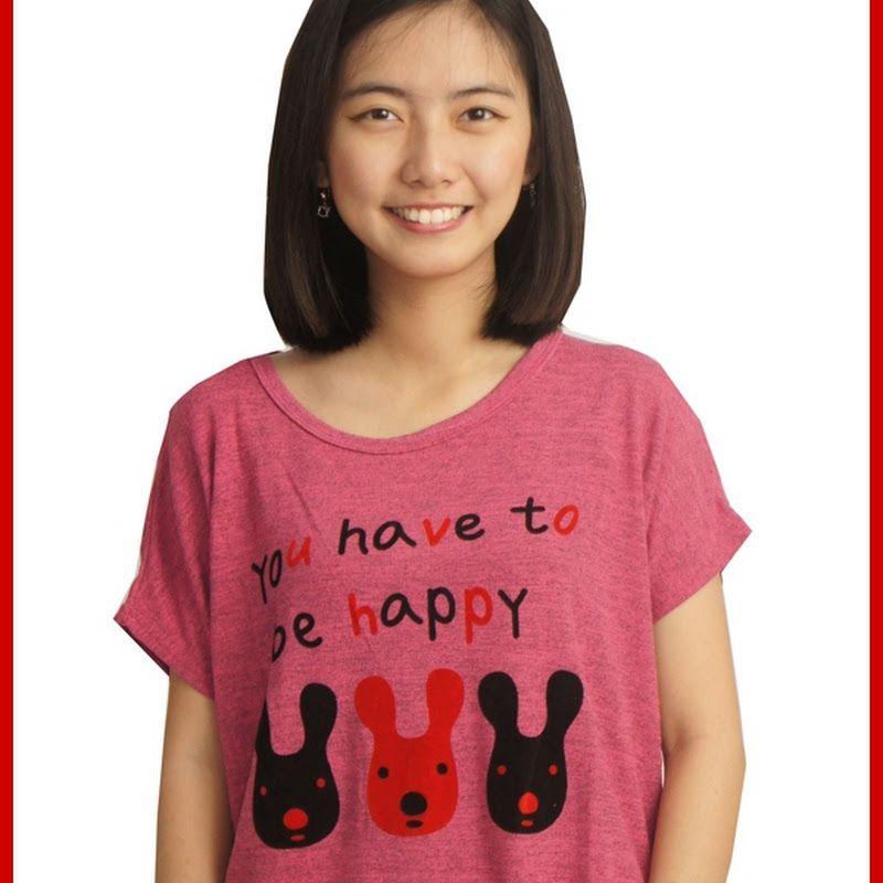 PIN JUAL  Baju Murah Online Model ADR150 Kaos Wanita Pink Rajut Rabbit  Import BMGShop Murah 60668d5eab