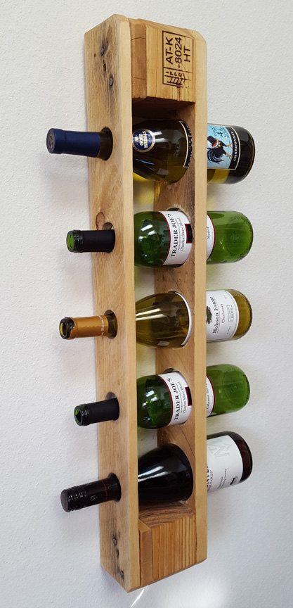 Estante Del Vino Palet Recuperado Botellero Vertical Habia Montado