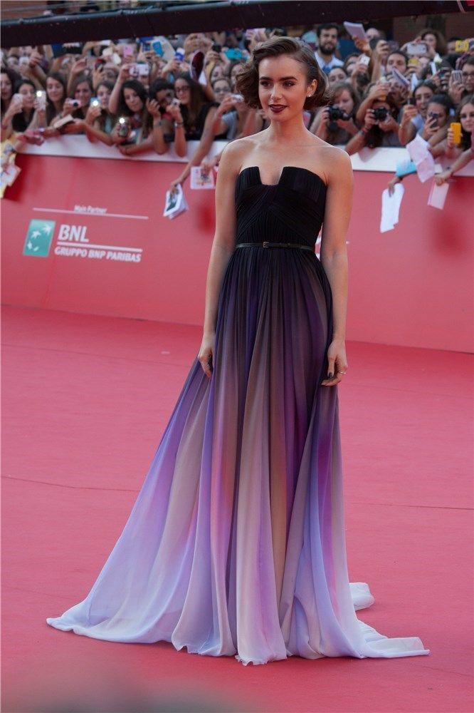 Lily Collins, irresistible de Elie Saab en la premiere de \'Love ...