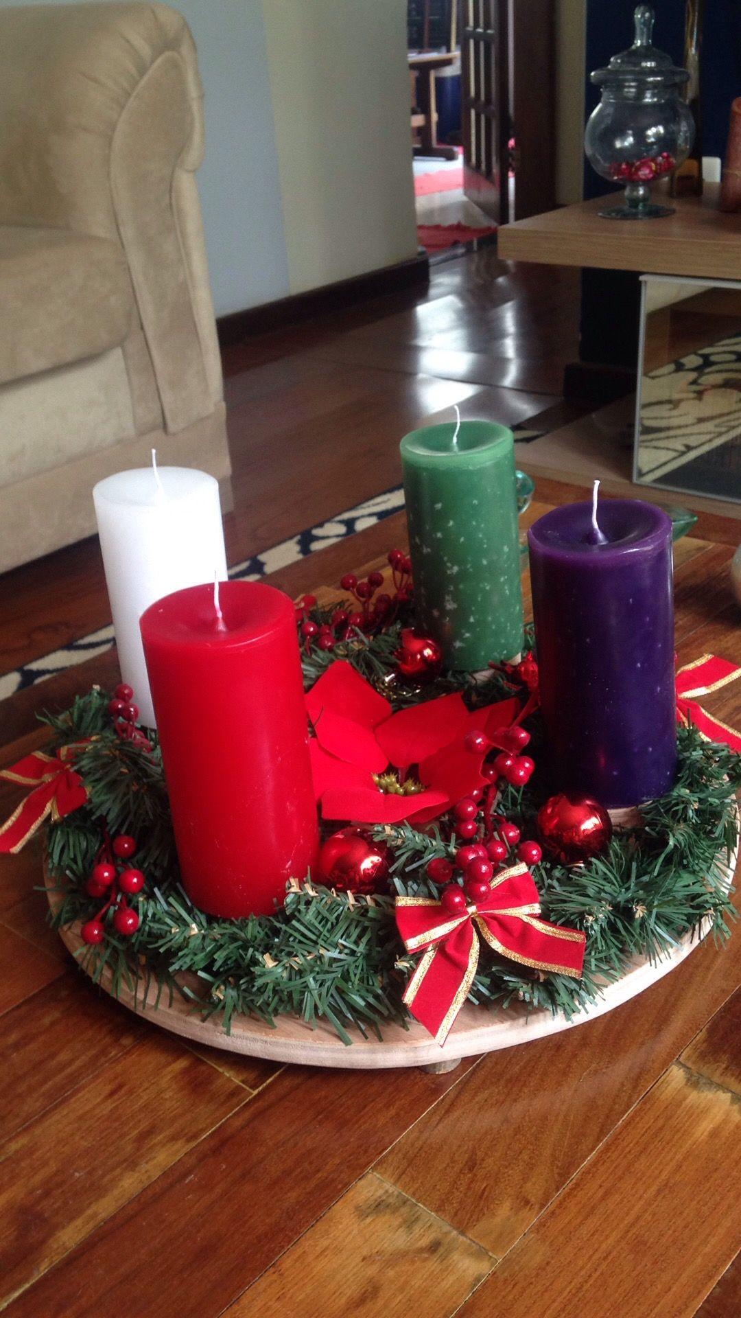 Minha Coroa Do Advento Com Imagens Arvores De Natal De Croche